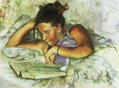 Young Woman Reading (Janis W)