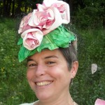 lizv in flower hat